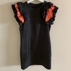 NWT French Connection Ruffle Sleeve Mini Dress
